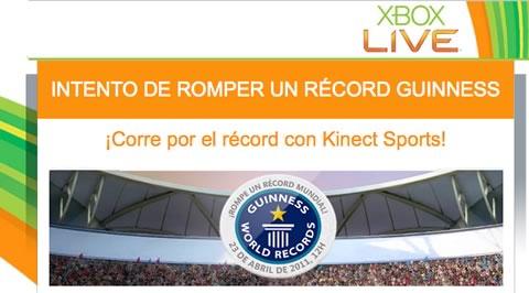 Intentan romper record guinness con Kinect Sports - xbox-live-guinness