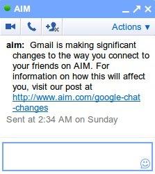 Gtalk proporcionará un mayor soporte para Aim - 20110511-084937