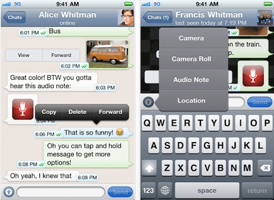 WhatsApp Messenger para iPhone gratis por tiempo limitado - Whatsapp-Messenger-for-iphone-free