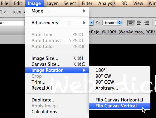 Como hacer un efecto de reflejo de un texto en Photoshop - 2011-06-12_18-02-29