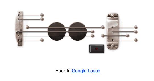 Google decide poner una URL permanente al Doodle de Les Paul - Doodle-les-paul