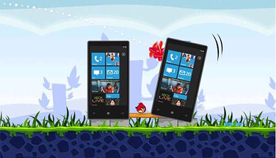 Angry Birds llega a Windows Phone 7