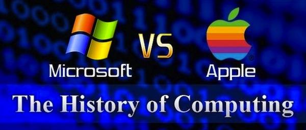 La Historia de Apple vs Microsoft [Infografía]