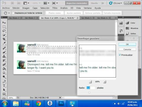 Ocultar algunos elementos en tus imágenes con blur en Photoshop - gaussian-aplicar