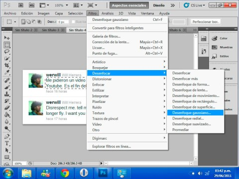 gaussian filtro Ocultar algunos elementos en tus imágenes con blur en Photoshop