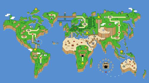 Wallpaper Super Mario Earth - 7JnqJ