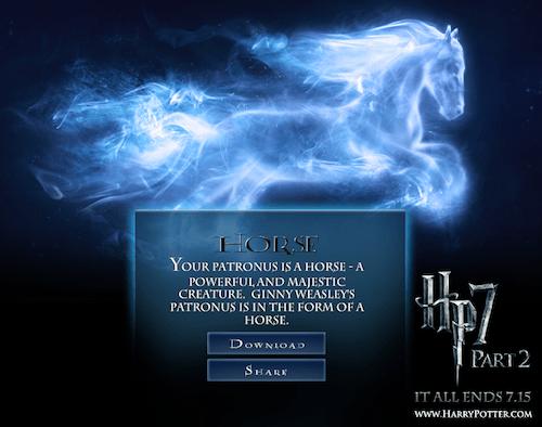 Captura de pantalla 2011 07 14 a las 12.57.14 Harry Potter, Cuál es tu Patronus