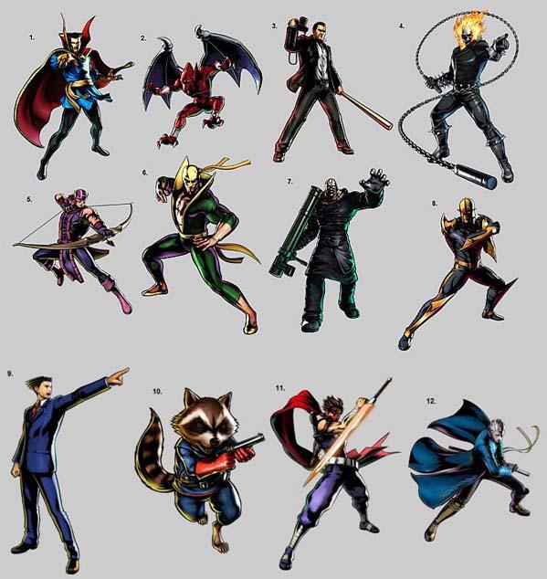 Capcom anuncia Ultimate Marvel Vs Capcom 3, con 12 nuevos personajes - Nuevos-personajes-en-ultimate-marvel-vs-capcom-3