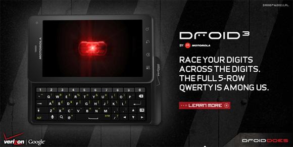 Presentado el Motorola Droid 3 en EEUU - droid3