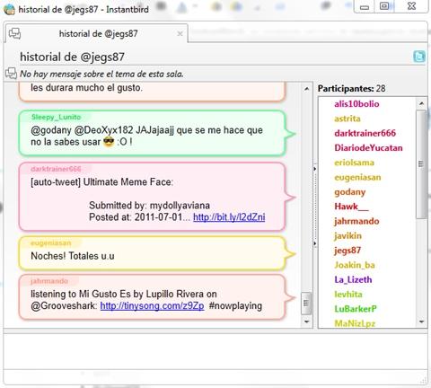 Instantbird, mensajería instantánea de Mozilla - instantbird-twitter