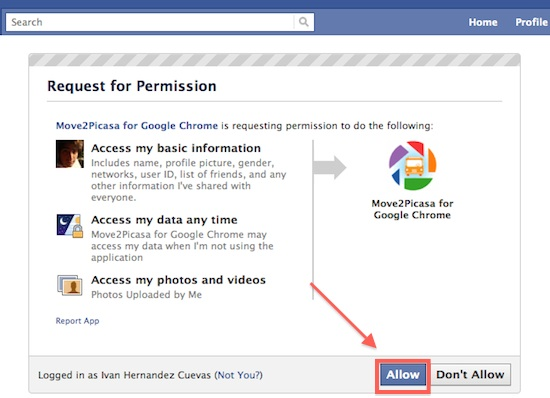 Como copiar nuestras fotos de Facebook a Google+ con Move2Picasa - move2picasa4