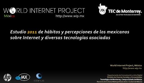 Estudio de Hábitos y percepciones de los Mexicanos sobre Internet y diversas tecnologías asociadas - world-internet-project