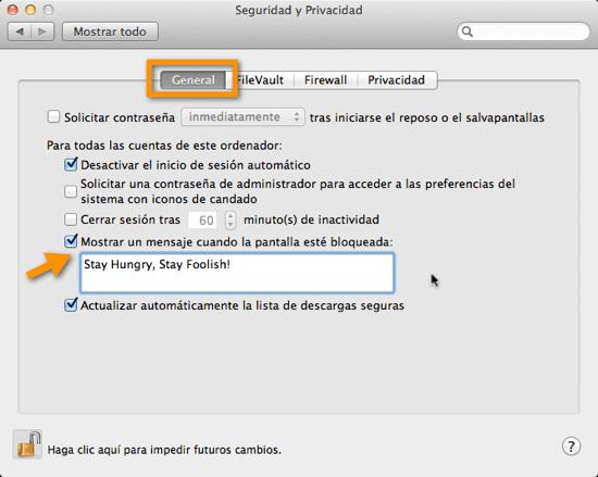 2011 08 11 22 15 51 Como poner una frase en tu pantalla de inicio de Mac OS X Lion