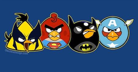 Angry Birds como Super Héroes y villanos [Imagen] - angry-birds-superheroes