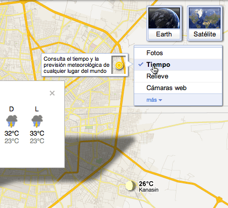 Google Maps se actualiza y ahora te muestran el clima - clima-google-maps