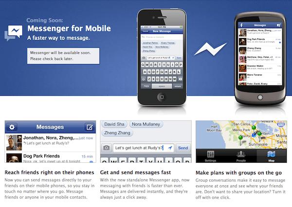 facebook messenger Facebook lanza Facebook Messenger