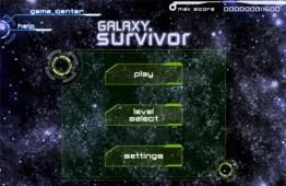 Juego de naves para iPad, Galaxy Survivor - galaxy-survivor-menu