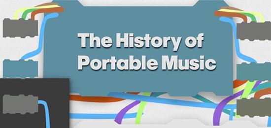 La evolución de los reproductores de música [infografía] - historia-reproductores-portatiles-infografia