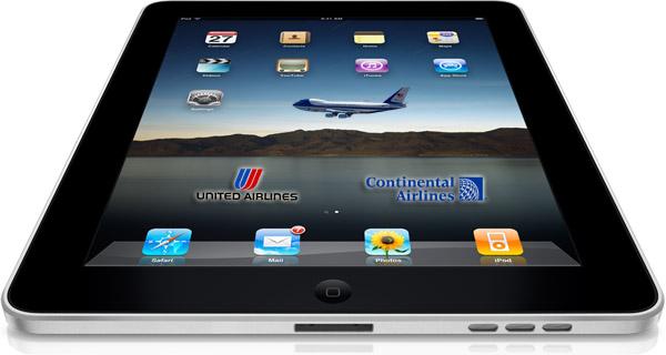 Aerolíneas cambian el papel por iPads - ipad-united-airlines