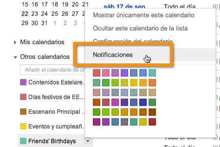 Agregar recordatorios de cumpleaños de Facebook a Google Calendar - notificaciones-google-calendar