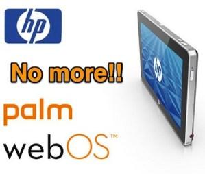 HP desaparecerá el sistema operativo móvil WebOS