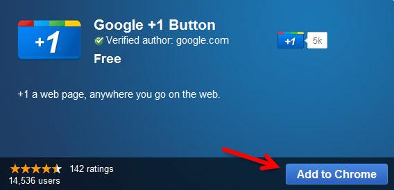 +1 google webadictos Instalar el botón +1 en Google Chrome y cómo usarlo.