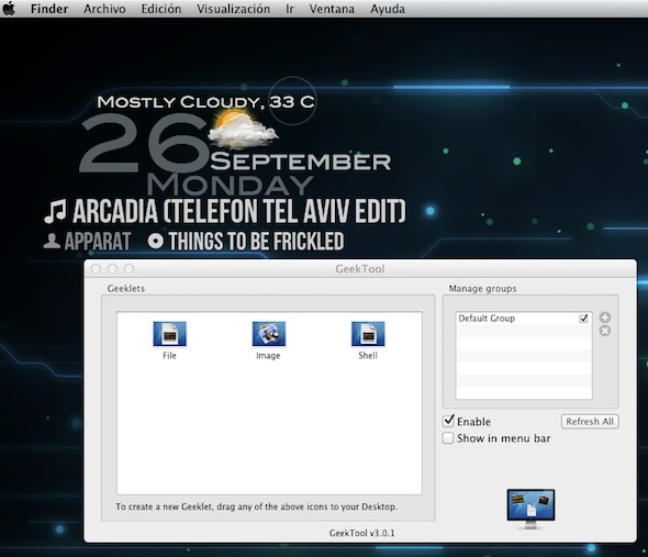 GeekTool da el gran salto a la Mac App Store - Geektool-mac