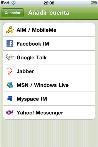 Entrar a Messenger en iPhone, Blackberry y Android con Beejive - IMG_0021-Custom