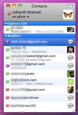 Mensajería y chat en Mac con Adium - adium-lista