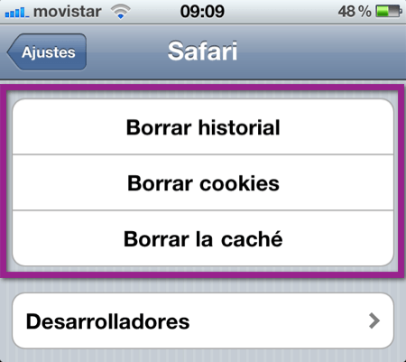 borar datos safari Como eliminar el historial, cookies y caché de Safari en iPhone, iPod y iPad
