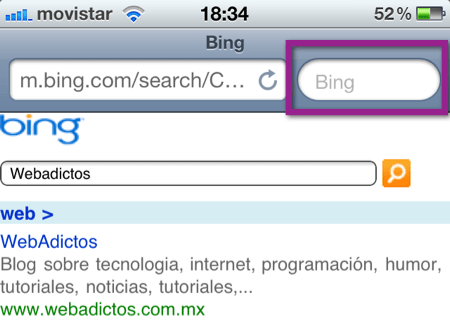 buscador safari ios Como cambiar el buscador de Safari en un iPhone, iPod o iPad