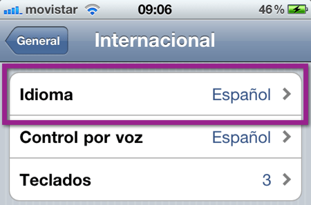 idioma default Como cambiar el idioma de dispositivo iOS (iPhone, iPod y iPad)