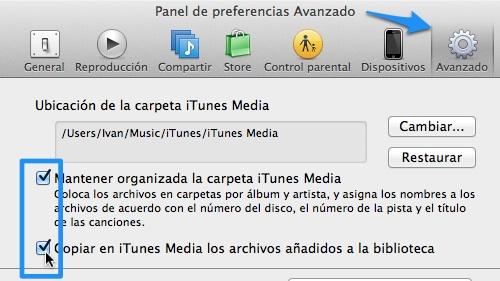Cómo mantener sin duplicados tus canciones y fotos de iTunes y iPhoto en tu computadora - preferencias-itunes