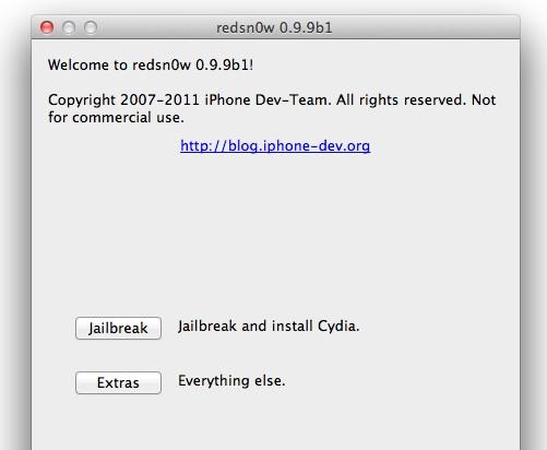 redsn0w 0.9.9b1 se renueva y facilita el proceso de Jailbreak - redsnow-0.9.9b1-mac-windows