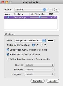 smc fan control Mantén la temperatura de tu Mac con smcFanControl