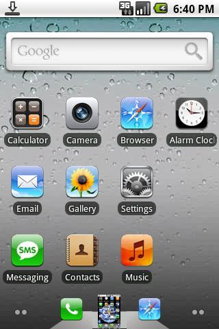 Tema iPhone 4 para tu Android - tema-android-iphone-4