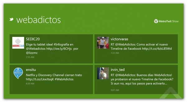MetroTwit Show el perfecto visualizador de Twitter para eventos - webadictos-metrotwit-show