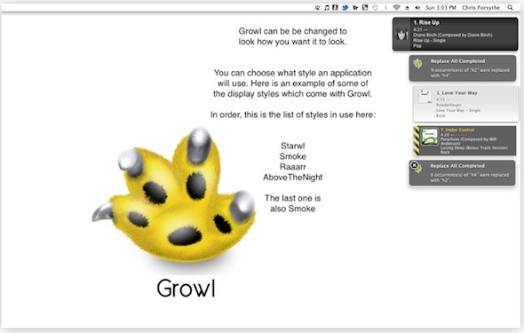 Growl 1.3 ox lion Growl se actualiza y se hace exclusivo de la Mac App Store