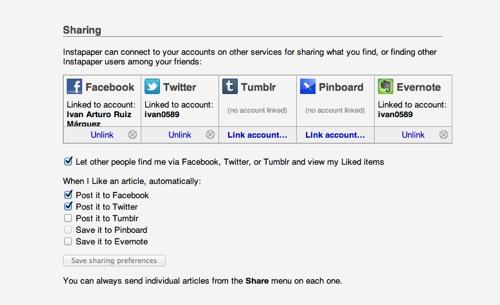 Instapaper, guarda páginas para leer después - web [Reseña] - Instapaper-redes-sociales
