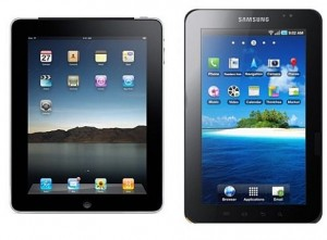 Apple tiene un problema de establecer la validez de sus patentes ante Samsung - Samsung-Galaxy-Tab-Apple-iPad-300x221