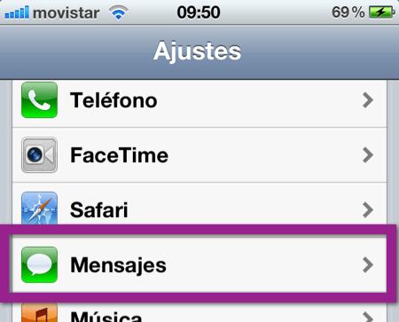 configurar imesage Como configurar iMessage en tu dispositivo con iOS 5