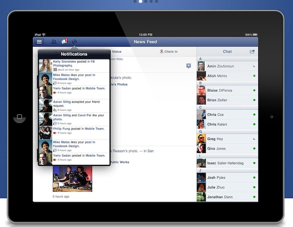 Facebook para iPad, finalmente disponible para su descarga - facebook-for-ipad