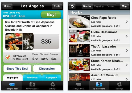 Groupon lanza en México su aplicación para iPhone - groupon-iphone-app