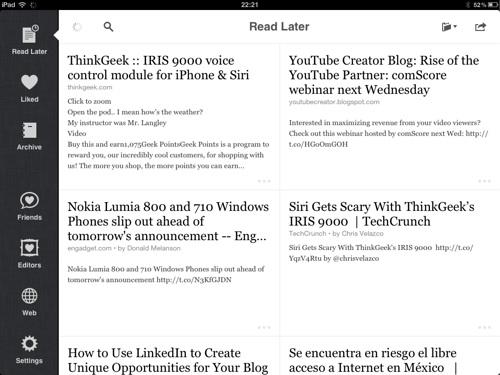 instapaper ipad Instapaper, guarda páginas para leer después web [Reseña]