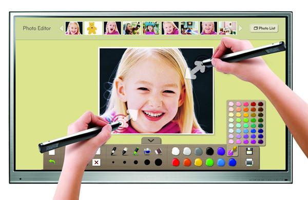 Lg presenta un televisor touch llamado Pentouch TV - multitouch