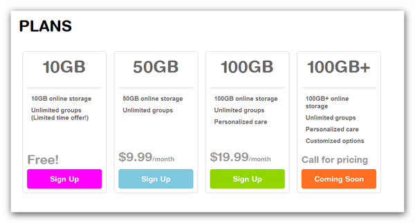 CX, una gran alternativa a Dropbox con 10GB - plans-cloud-experience-cx