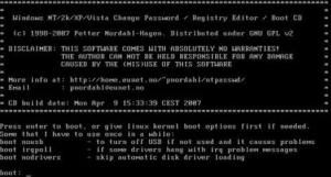 Recuperar password de Windows XP y Windows Vista