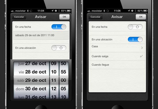Que nada se te olvide con Recordatorios para iOS 5 [Reseña] - reminders-usabilidad-2