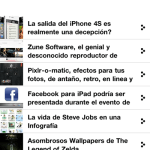 WebAdictos app para iPhone