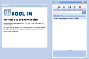Webmessenger online KoolIM